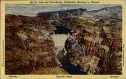 Boulder Dam And Powerhouse