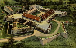 Aerial View Of Fort Ticonderoga Museum
