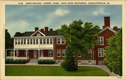 Davis Building Nurses Home, Blue Ridge Sanatorium