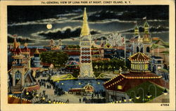 General View Of Luna Park At Night