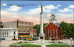 Monument And Courthouse, Public Square