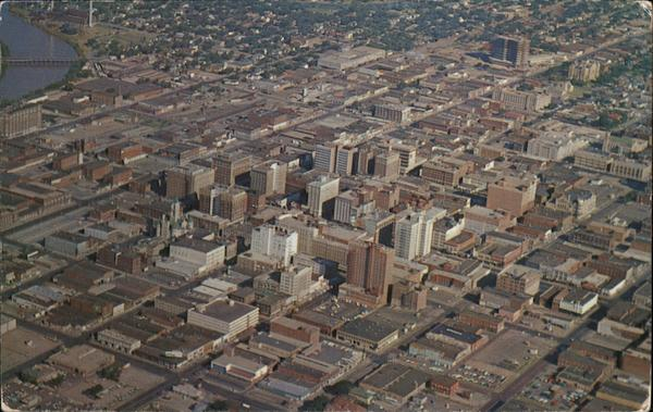 Aerial View of Downtown Wichita Kansas
