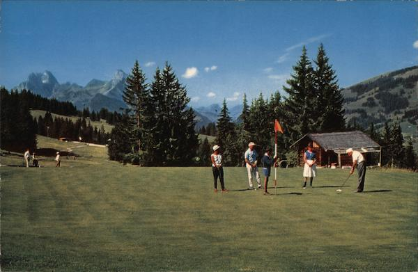 View of Saanenland Golf Course Gstaad Switzerland
