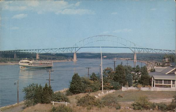 Cape Cod Canal and Bourne Bridge with M.S. Boston Belle Massachusetts