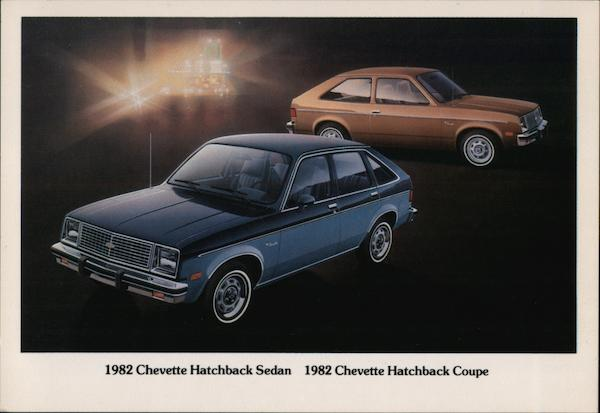 1982 Chevette Hatchback Sedan and Coupe Cars