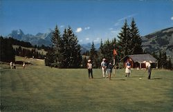 View of Saanenland Golf Course Postcard
