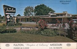 "The Travelier Motel and Restaurant ""Kingdom of Callaway"" U.S. 54 South Postcard"