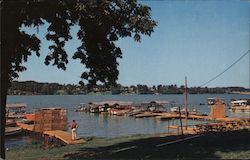 Boat dock on Lake Decatur in Nelson Park