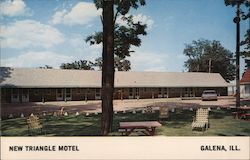 New Triangle Motel Postcard