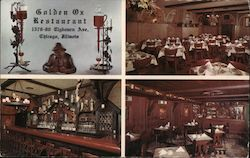 Golden Ox Restaurant 1578-80 Claybourne Ave.- Located on the Near North Side Postcard