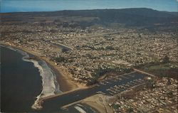 Aerial view of Santa Cruz, California