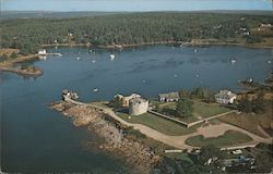 Aerial View of Historic Fort William Henry on Shore of Pemaquid Harbor