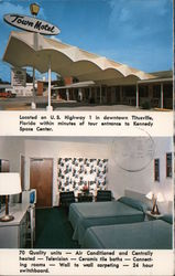 Twon Motel in Titusville, Florida Postcard