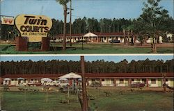 Twin Courts Motel Postcard
