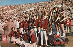 1966-67 Cheerleaders and Majorettes, Mississippi State University Bulldogs Postcard