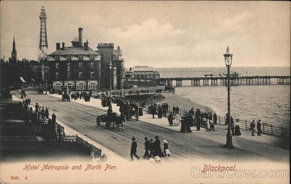 Hotel Metropole and North Pier Blackpool England Lancashire
