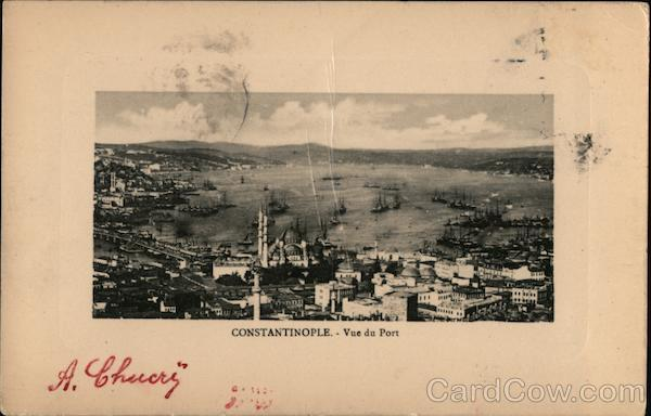Vue du Port Constantinople Turkey Greece, Turkey, Balkan States