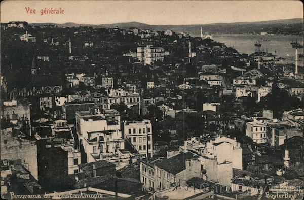 Vue Generale du Ville Constantinople Turkey Greece, Turkey, Balkan States