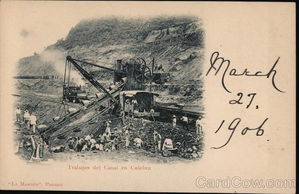 Trabajos del Canal en Culebra Colombia South America