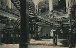 Interior of the New Post Office Postcard