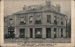 The spotted cow. Hither Green S E, John Walker, wine & Spirit Merchant