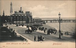Hotel Metropole and North Pier Postcard
