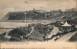 Clarence Gardens, South Cliff Postcard