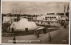 North Cascade Fountain and Palace of Art, Empire Exhibition 1938 Postcard