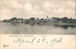 A town located on the ocean in the tropics Postcard