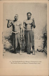 The cannibals Kunto and Koupo at Touaourou Bay in 1857