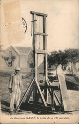 Guillotine, Executioner MASSÉ, the Eve of his 74th Execution