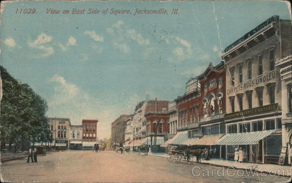 View on East Side of Square Jacksonville Illinois