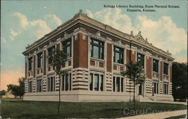 Kellogg Library Building, State Normal School Emporia Kansas