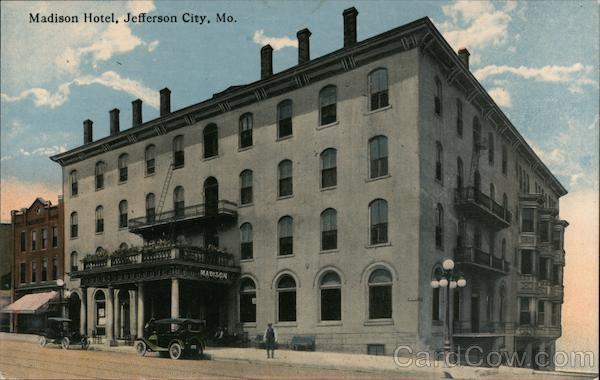 Madison Hotel Jefferson City Missouri C. T. Photochrom