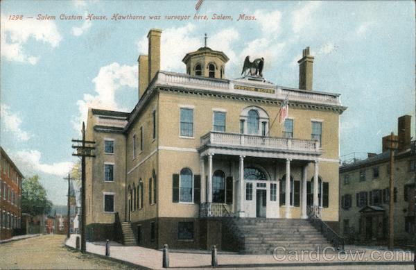 Salem Custom House, Hawthorne was Surveyor Here Massachusetts