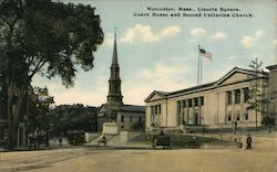 Lincoln Square, Court House and Second Unitarian Church