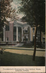 Commandant's Headquarters, State Soldiers' Home Postcard
