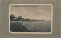 Beach & Cottages Hyannis Park Postcard
