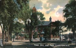 Town Hall and Park Postcard