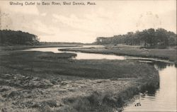 Winding Outlet to Bass River Postcard