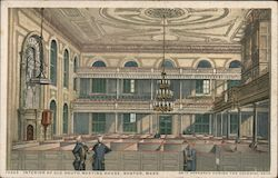 Interior of Old South Meeting House as it Appeared During the Colonial Days