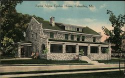 Sigma Alpha Epsilon House Postcard