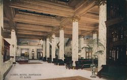 Lobby, Hotel Jefferson Postcard