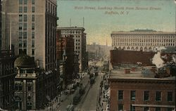 Main Street, Looking North from Seneca Street Postcard