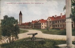 Infantry and Calvary Barracks Postcard