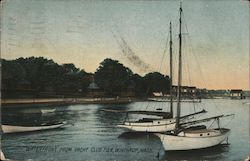 Waterfront from Yacht Club Pier Postcard
