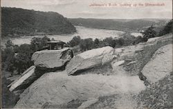 Jefferson's Rock, Looking up the Shenandoah Postcard
