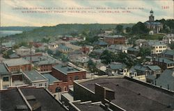 Looking North East from First National Bank Building, Showing Warren County Court House on Hill