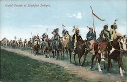 Grand Parade of Blackfoot Indians
