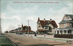 Residential - 4th Avenue Looking West Postcard